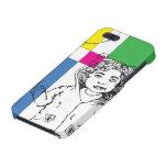 Globo del chica coloreado iPhone 5 protector