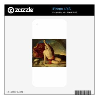 Globo del compasso e de la estafa de Sapiente de Calcomanías Para El iPhone 4