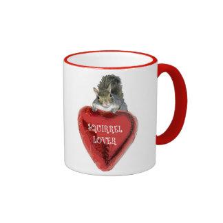 Globo del corazón - amante de la ardilla tazas de café