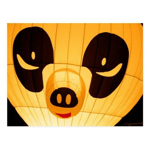 Globo del estilo de la panda postal