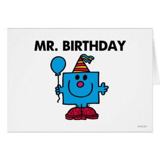 Globo del feliz cumpleaños de Sr. Birthday el | Tarjeta De Felicitación