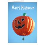 Globo del feliz Halloween Tarjeton