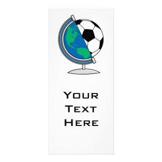 globo del fútbol del mundo tarjetas publicitarias a todo color