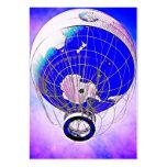 Globo del globo del mundo y cielo surrealista tarjeta de visita