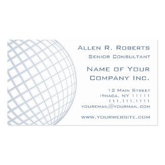 Globo del gris azul del consultor de negocio globa