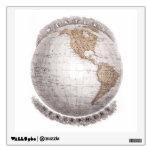 Globo del hemisferio occidental del mapa del mundo