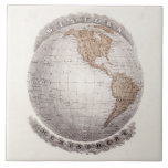Globo del hemisferio occidental del mapa del mundo teja  ceramica