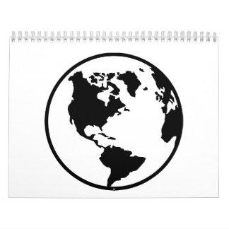 Globo del mapa del mundo calendario de pared