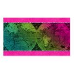 Globo del mapa del mundo de la tarjeta de visita d