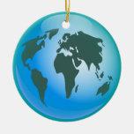 Globo del mundo adorno redondo de cerámica