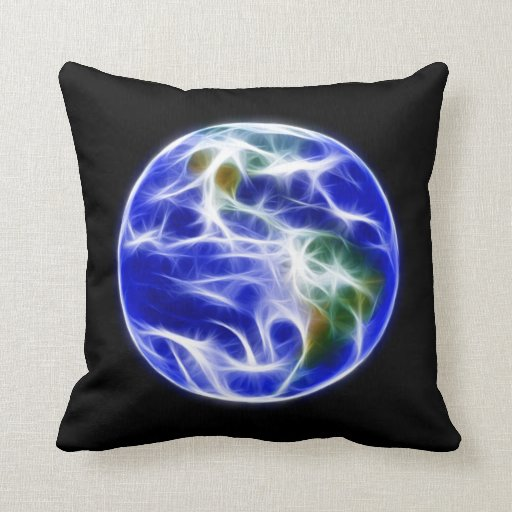 Globo del mundo de la tierra del planeta cojín