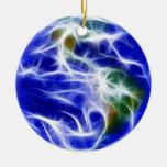 Globo del mundo de la tierra del planeta ornamentos para reyes magos