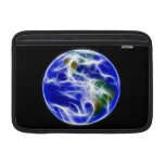 Globo del mundo de la tierra del planeta fundas MacBook