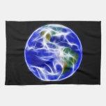Globo del mundo de la tierra del planeta toallas de cocina