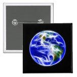 Globo del mundo de la tierra del planeta pin