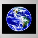 Globo del mundo de la tierra del planeta posters