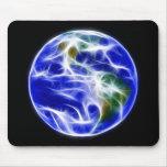 Globo del mundo de la tierra del planeta alfombrillas de ratón