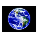 Globo del mundo de la tierra del planeta tarjeta postal