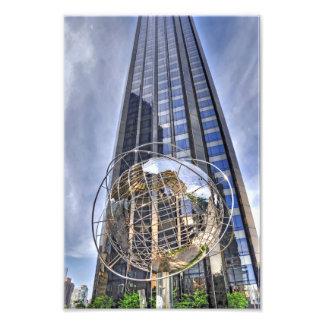 Globo del mundo del círculo de Columbus Fotografía