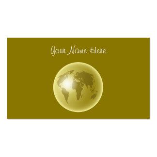 Globo del mundo del oro, su nombre aquí tarjetas de visita