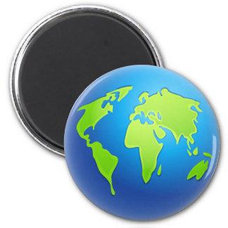 Globo del mundo imanes de nevera