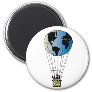 Globo del mundo imán redondo 5 cm