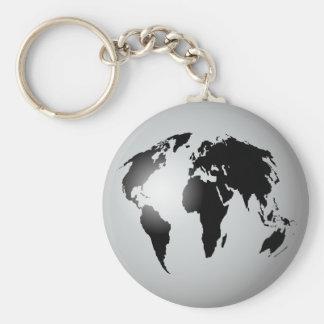 Globo del mundo llaveros personalizados