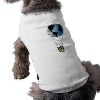 Globo del mundo playera sin mangas para perro