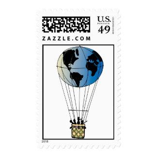 Globo del mundo sello postal