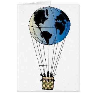 Globo del mundo tarjeta de felicitación