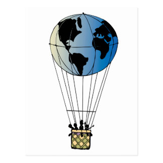 Globo del mundo tarjetas postales