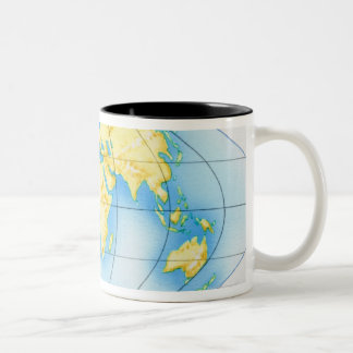 Globo del mundo taza
