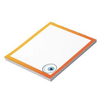 Globo del ojo amarillo-naranja blocs de notas