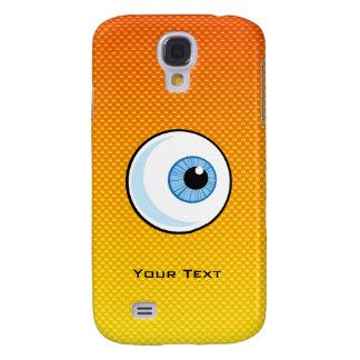 Globo del ojo amarillo-naranja