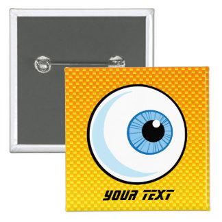Globo del ojo amarillo-naranja pin