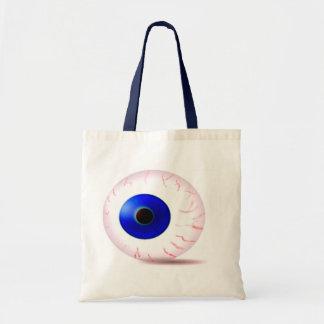 Globo del ojo azul bolsa de mano