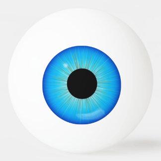 Globo del ojo azul del iris pelota de tenis de mesa