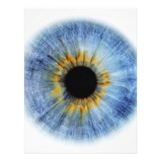"""Globo del ojo azul folleto 8.5"""" x 11"""""""