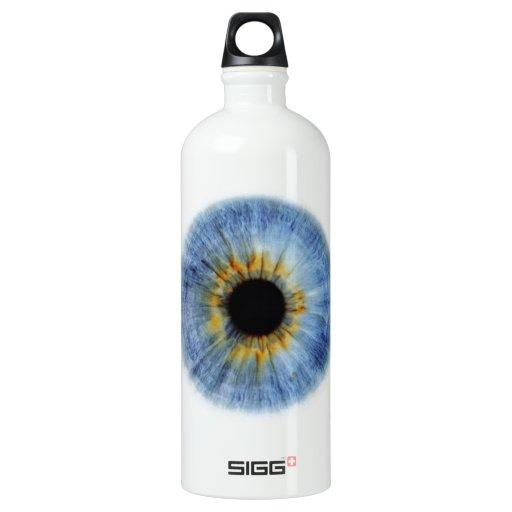 Globo del ojo azul humano