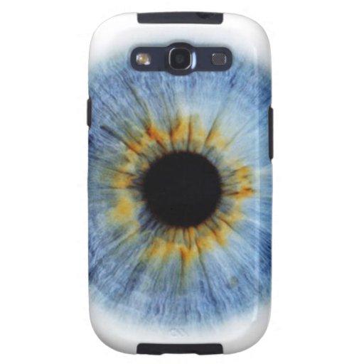 Globo del ojo azul humano galaxy s3 protector