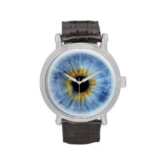 Globo del ojo azul humano, iWatch Relojes De Pulsera