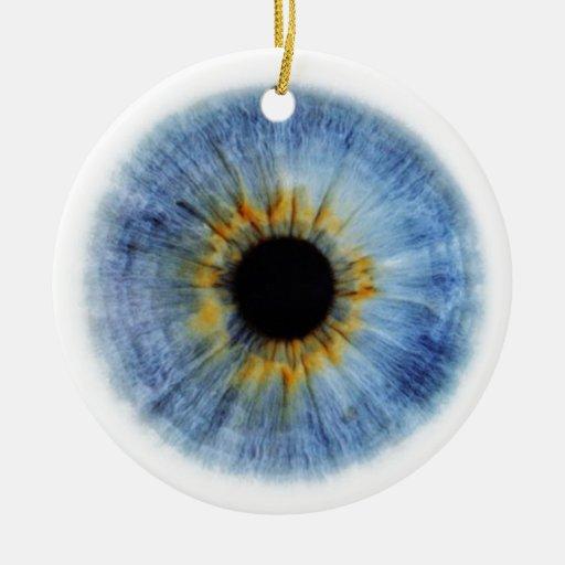 Globo del ojo azul humano ornamentos de navidad