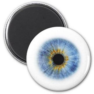 Globo del ojo azul imán redondo 5 cm