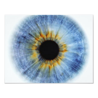"""Globo del ojo azul invitación 4.25"""" x 5.5"""""""