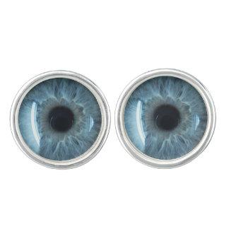 Globo del ojo azul mancuernillas