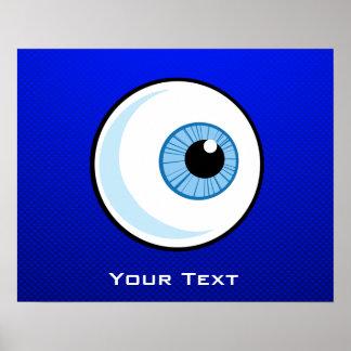 Globo del ojo azul impresiones
