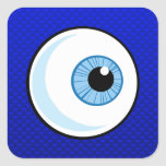 Globo del ojo azul pegatina cuadradas personalizadas