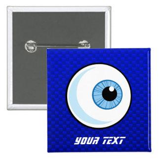 Globo del ojo azul pins