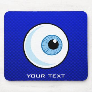 Globo del ojo azul tapetes de ratones