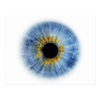Globo del ojo azul tarjeta postal